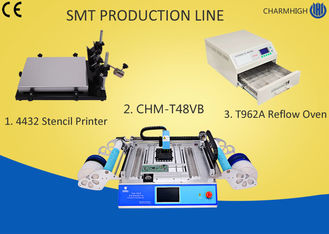 4432 Stencil Printer SMT Line Machine CHMT48VB Table Top Pick And Place T962A Reflow Oven